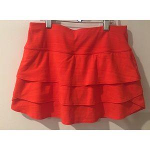 New Athleta Red Yoga Gym Stretch Mini Skirt Skort